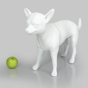 Dog Mannequin Beatrice - Anti-Scratch White