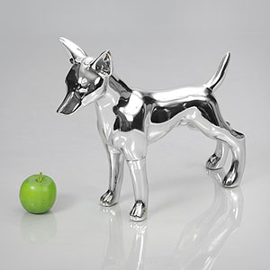 Dog Mannequin Matilda - Chrome