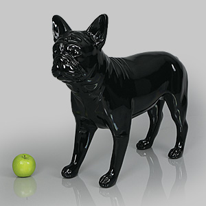 Dog Mannequin Patricia - Gloss Black