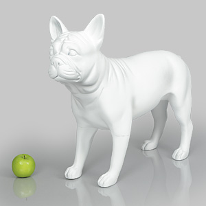 Dog Mannequin Patricia - Anti-Scratch White
