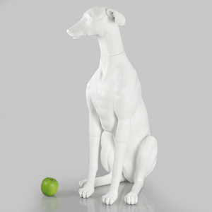 Dog Mannequin Philippa - Anti-Scratch White