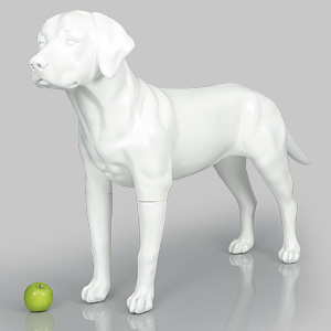 Dog Mannequin Victoria - Anti-Scratch White